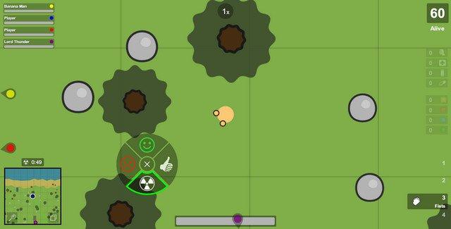 ゲームSurvivのプレイ画像 アイコン説明
