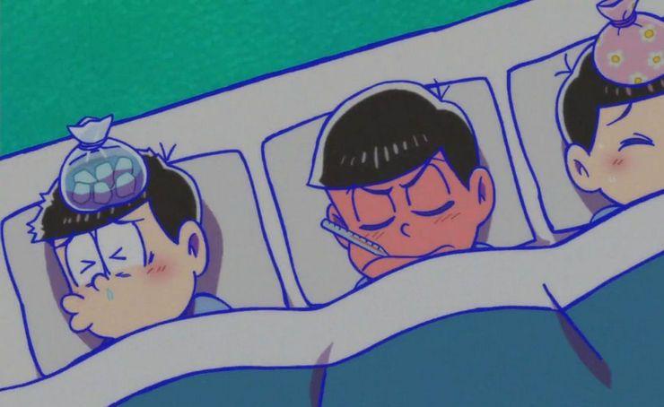 おそ松さん 風邪